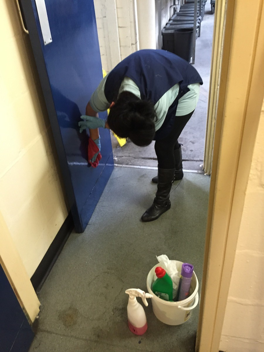 cleaning a commercial property in Preston