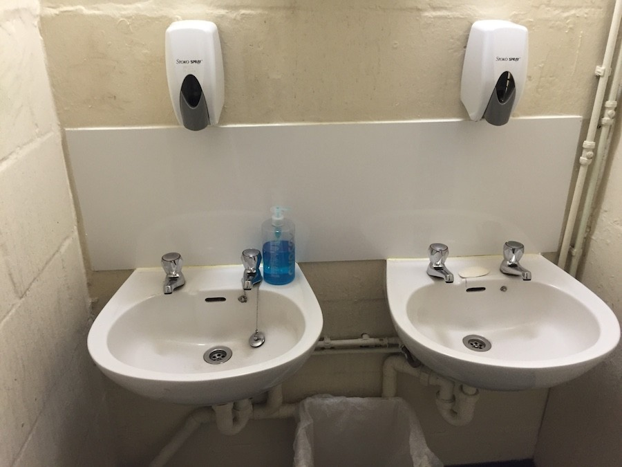 restrooms sanitised